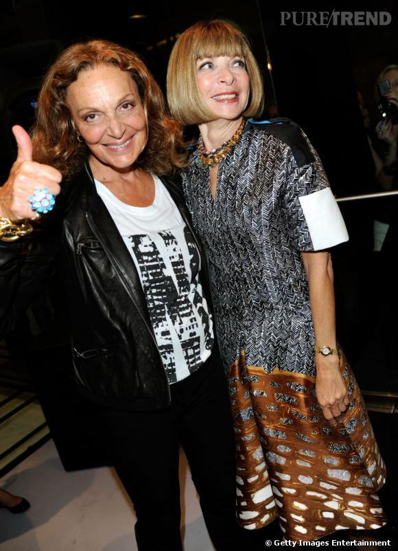Diane Von Furstenberg et Anna Wintour.