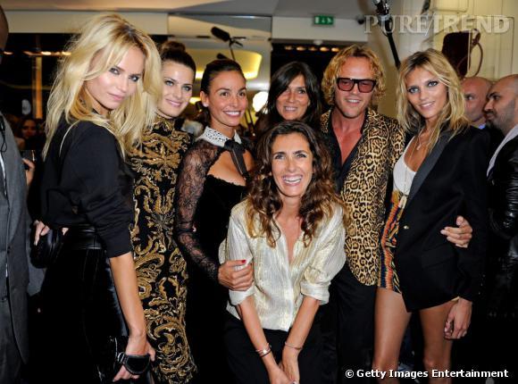 Natasha Poly, Isabeli Fontana, Ines Sastre, Emmanuelle Alt, Peter Dundas, Anja Rubik et Mademoiselle Agnès.