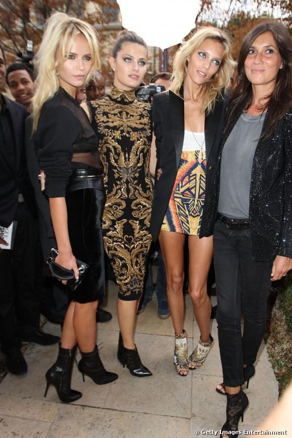 Natasha Poly, Isabeli Fontana, Anja Rubik et Emmanuelle Alt.