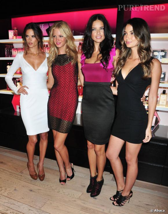Alessandra Ambrosio, Erin Heatherton, Adriana Lima et Lily Aldridge chez Victoria's Secret.