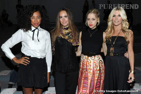 Corinne Bailey Rae, Louise Roe, Peaches Geldof et Tinsley Mortimer au front row de Milly by Michelle Smith.