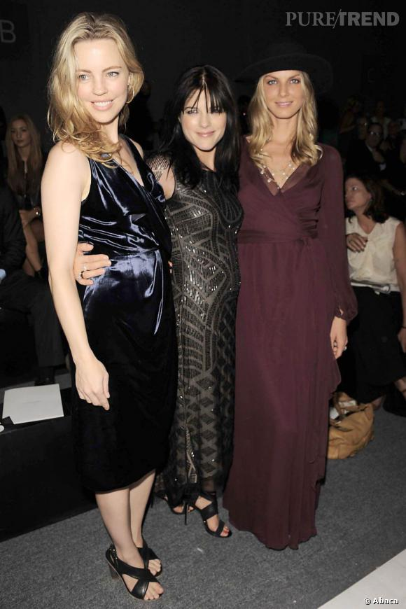 Melissa George, Selma Blair et Angela Lindvall au premier rang de J.Mendel.