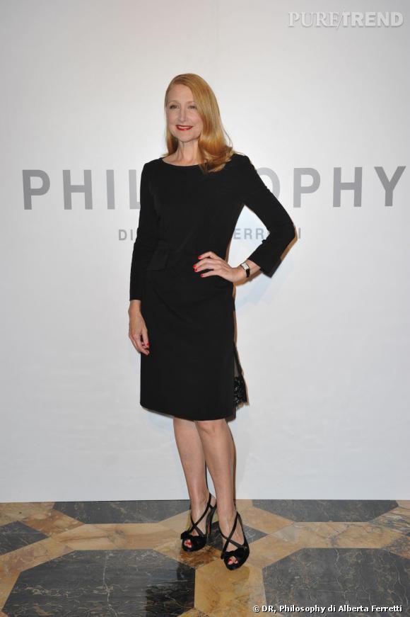 Patricia Clarkson, actrice américaine en Philosophy di Alberta Ferretti.