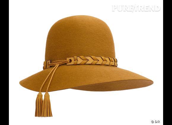 50 chapeaux pour cet Automne-Hiver 2011/2012 !     Chapeau en feutre et tresse en agneau Hermès, 1 100 €.