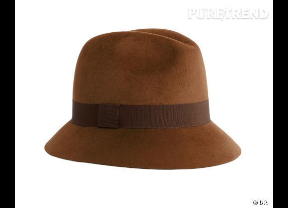 50 chapeaux pour cet Automne-Hiver 2011/2012 !     Chapeau en feutre et gros grain Hermès, 390 €.
