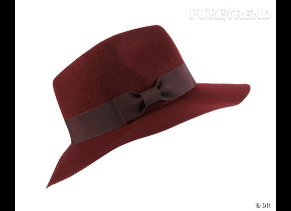 """50 chapeaux pour cet Automne-Hiver 2011/2012 !     Chapeau """"Oxbood floppy fedora"""" Topshop, environ 29 €."""