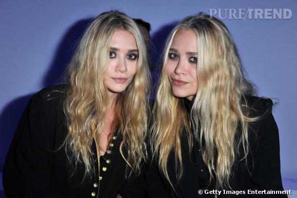 Mary-Kate et Ashley Olsen au défilé de Kanye West à Paris.