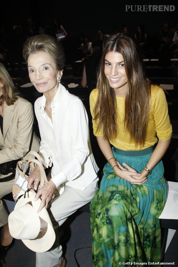 Lee Radziwill et Bianca Brandolini d'Adda sont venues découvrir la collection de l'Été 2012 par la maison italienne Valli.