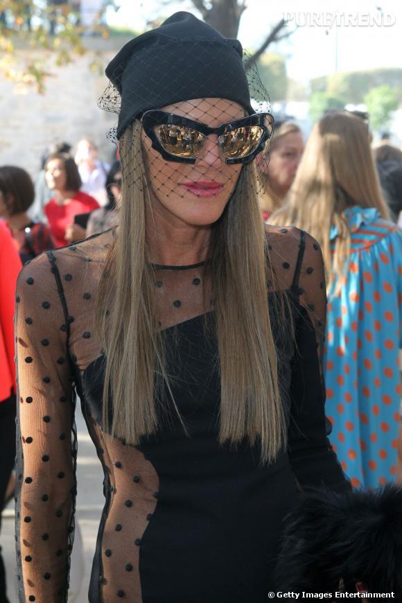 Anna Dello Russo toujours aussi déroutante en Stella McCartney chez Chloé.