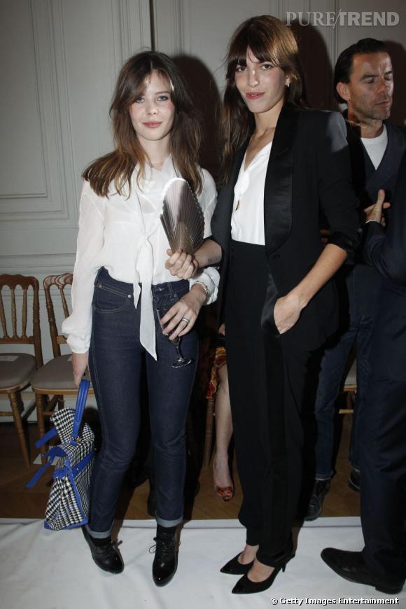 Duo de Lou, Lesage et Doillon, chez Yves Saint Laurent.