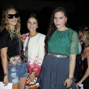 Les soeurs Missoni Margherita et Theresa accompagnées d'Eugénie Niarchos.