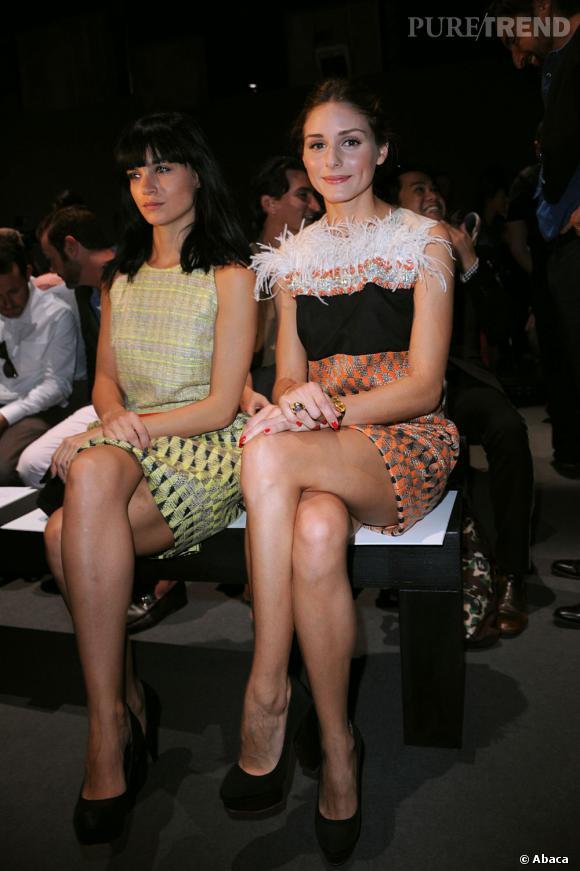 Leigh Lezark et Olivia Palermo bien coordonnées chez Giambattista Valli.