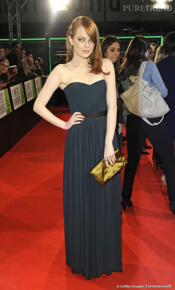 """Emma Stone lors de la première de """"The Help"""" à Hambourg en Allemagne."""