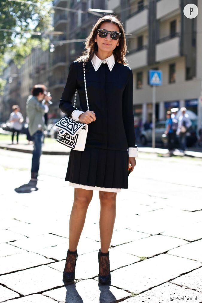 son look soubrette gothique ce qu 39 on lui pique sa robe noire col blanc ferm jusqu 39 en. Black Bedroom Furniture Sets. Home Design Ideas