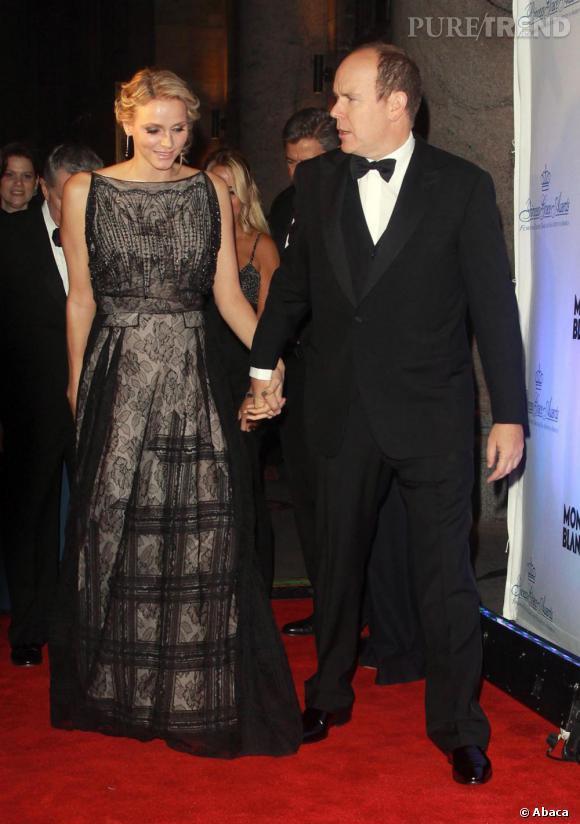 Charlène Wittstock au gala de la fondation de la Princesse Grace à New York.