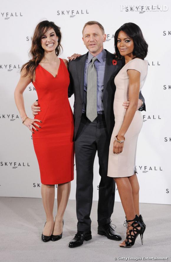 Bérénice Marlohe, Daniel Craig et Naomie Harris, les trois stars du prochain James Bond.