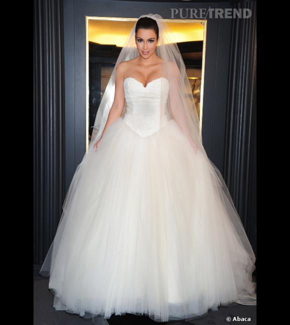 Kim kardashian s 39 est mari e en vera wang un mariage qui for Vera wang robes de mariage d hiver