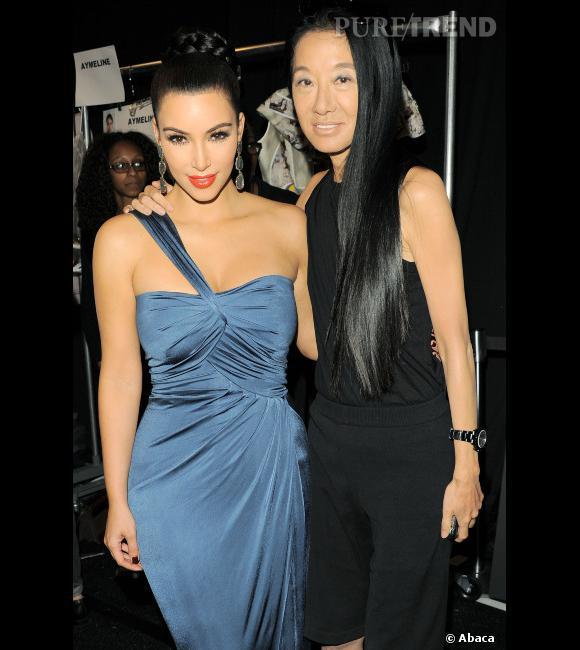 Vera Wang et Kim Kardashian au temps du bonheur.