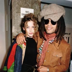 Lenny Kravitz et Kylie Minogue en 1991.