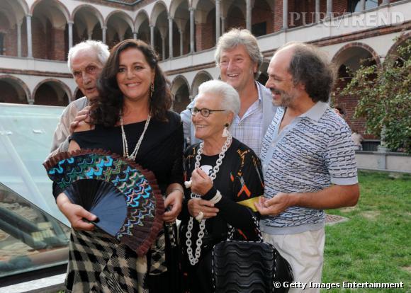La famille Missoni, Angela à gauche et sa mère Rosita.