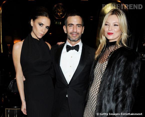 Victoria Beckham, Marc Jacobs et Kate Moss aux British Fashion Awards à Londres.