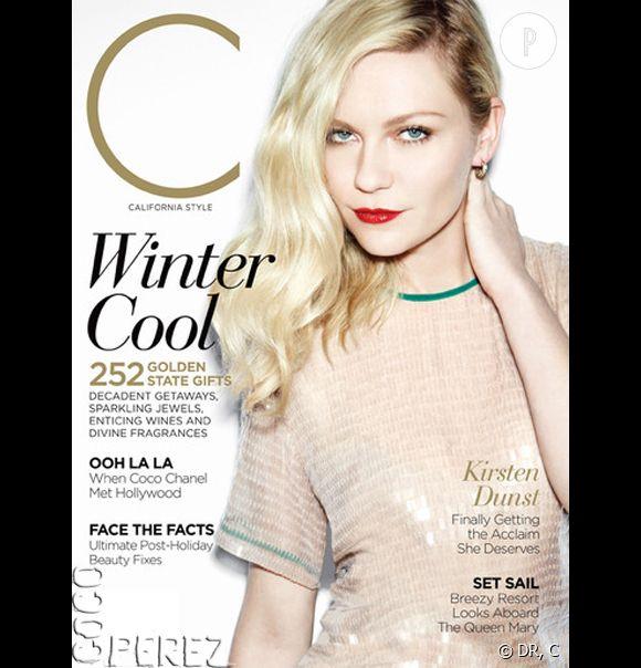 Kirsten Dunst joue les cover girls glamour pour le magazine C.