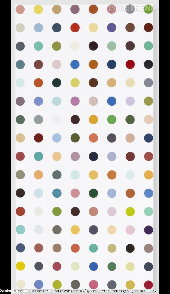 Damien Hirst Famotidine,2004-2011 Household gloss on canvas 157.5 x 76.2 cm Image réalisée par Prudence Cuming Associates