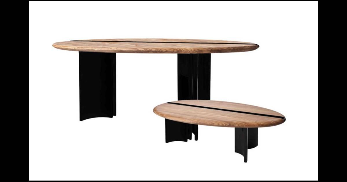 bureau ou table de salle manger et table basse design alice etcaetera pour pleyel. Black Bedroom Furniture Sets. Home Design Ideas