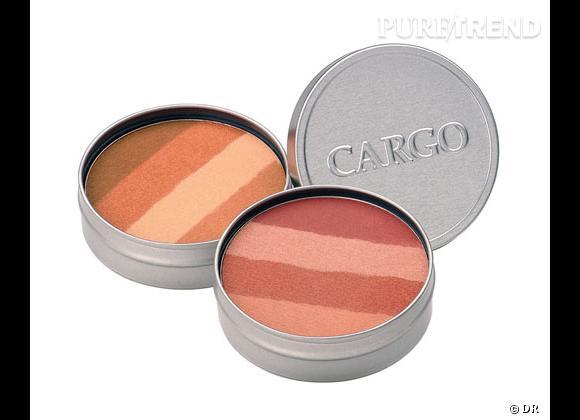 Le blush, détail bonne mine de notre maquillage.     BeachBlush, Miami Beach, Cargo. 26 €.