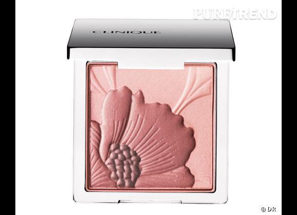 Le blush, détail bonne mine de notre maquillage.     Fresh Bloom Allover Colour, Poudre Eclat FLoral, Sisley. 33,50 €.