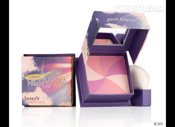 Le blush, détail bonne mine de notre maquillage.     Poudre Blush Hervana, Benefit. 32 €.
