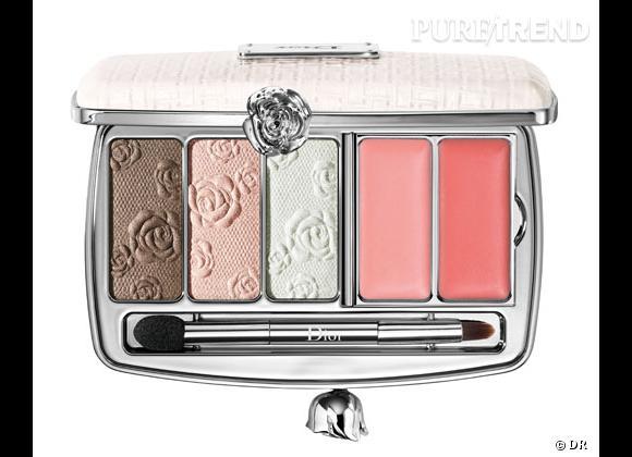 Le blush, détail bonne mine de notre maquillage.     Palette Garden Clutch, Dior. 75 €.