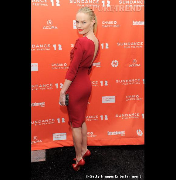 """Dos nu très sexy pour Kate Bosworth lors de la première de """"Black Rock"""" à Sundance."""