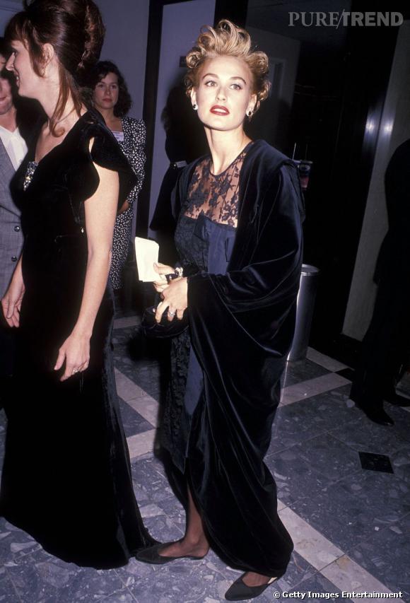 Le flop soirée  : jouer les Marilyn Monroe, une très mauvaise idée pour Demi Moore.