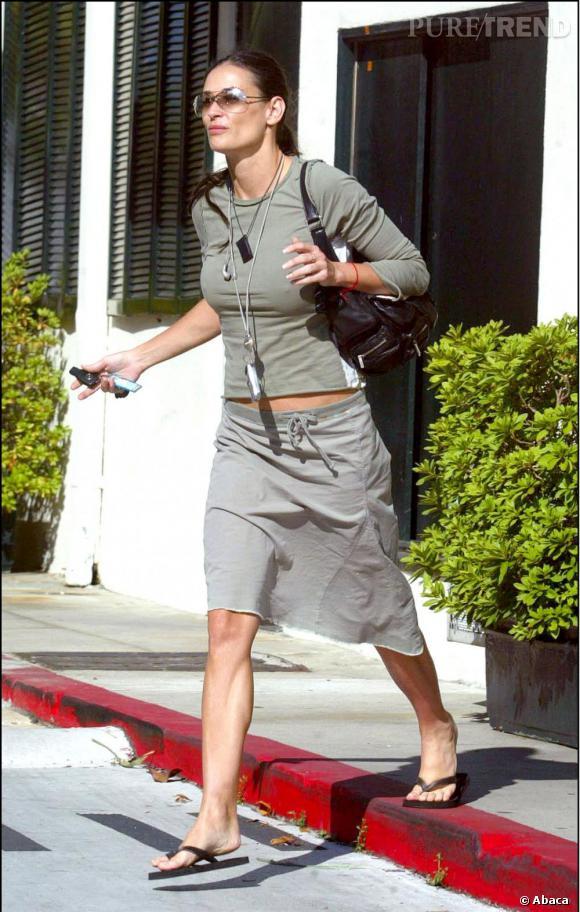 Le flop look de rue :  Demi Moore, complétement débrayée.