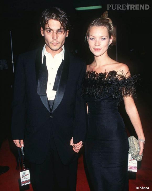 En véritable bad girl, Kate Moss collectionne les bad boys. L'un de ses amants terribles, Johnny Depp.