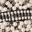 LIGIA DIAS    Bracelet Chaine & Perle Double en cristal Swarovski, chaine en acier, ruban en soie et fermoir en argent massif, 730 €.    www.lexception.com