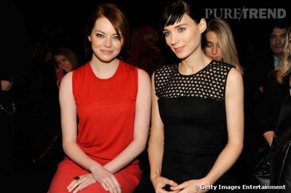 Emma Stone et Rooney Mara chez Calvin Klein à New York.