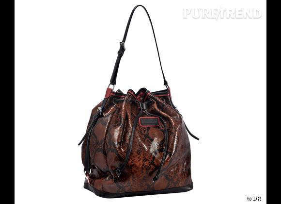 Les it-bags de cet été 2012 : Longchamp    Sac Reptiligne, 550 €.
