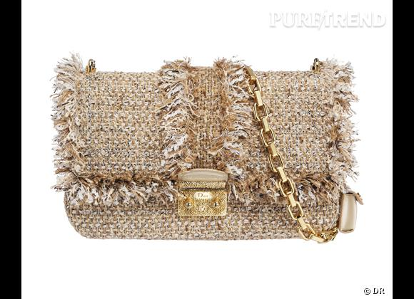 Les it-bags de cet été 2012 : Christian Dior     Miss Dioren tweed frangé.