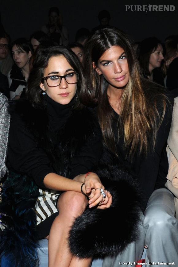 Delfina Delettrez et Bianca Brandolini d'Adda front row chez Fendi à Milan.