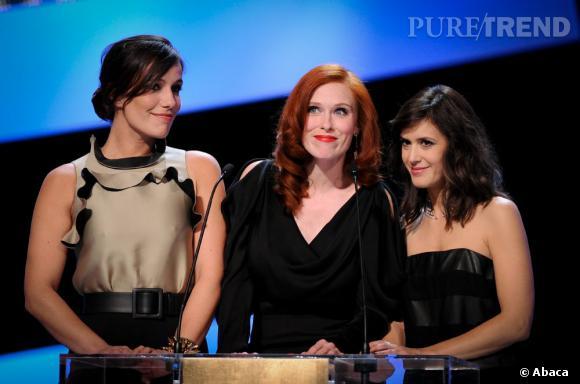 Les actrices françaises investissent la scène. De gauche à droite : Audrey Fleurot, Zoé Félix et Olivia Bonamy.