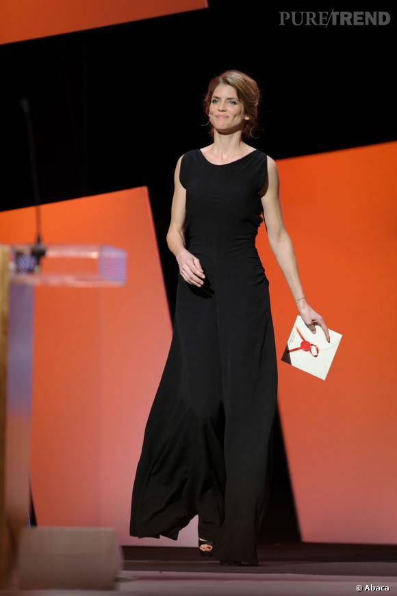 Le chic et la discrétion d'Alice Taglioni en Yves Saint Laurent.