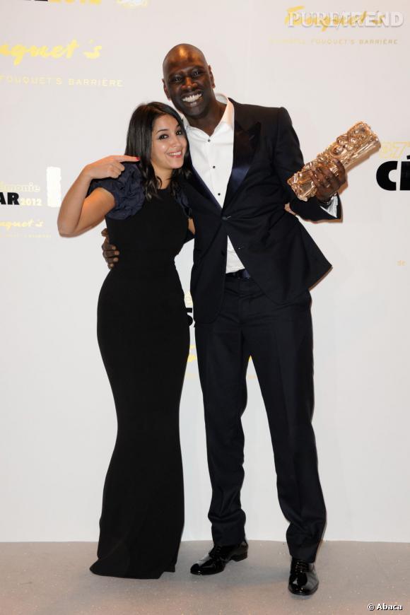 """Leïla Bekhti et Omar Sy, sacré meilleur acteur pour son rôle dans """"Intouchables""""."""