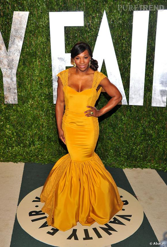 Serena Williams ose une robe fourreau Christiane King.