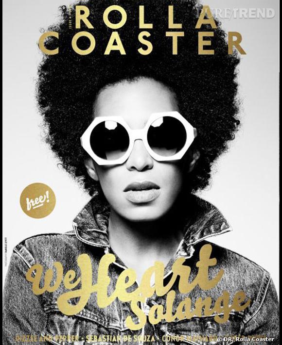 Solange Knowles en couverture du magazine anglais RollaCoaster.