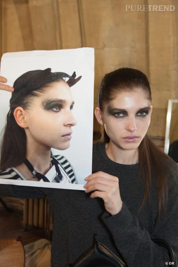 Entre les essais maquillage et le résultat final, il n'y a pas de différence.