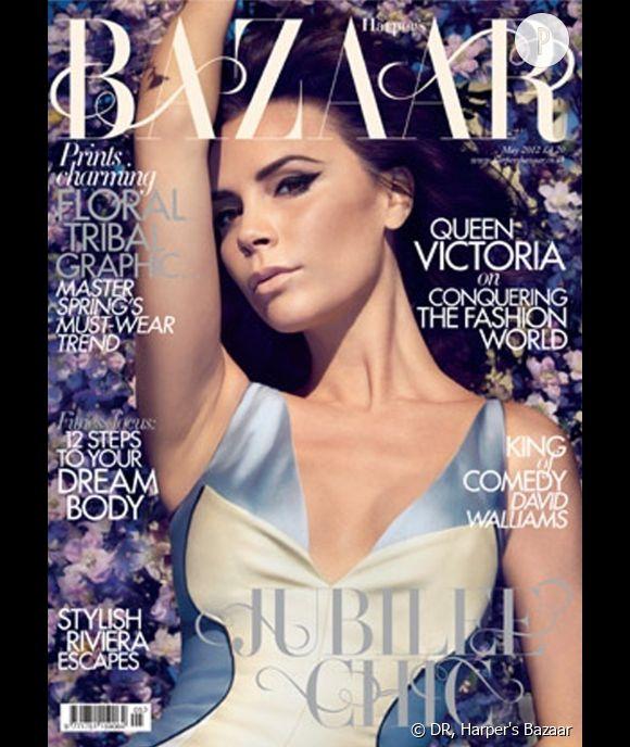 Victoria Beckhamen couverture du numéro de may 2012 du Harper's Bazaar UK.