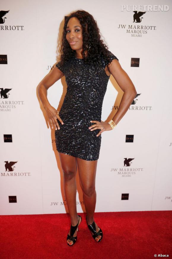 Venus Williams, audacieuse dans une mini robe pailletée.