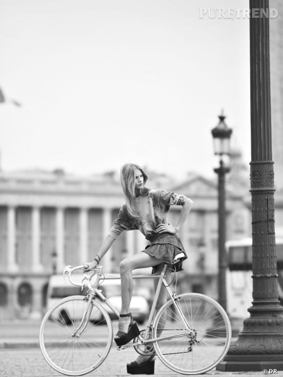 Tendance cycliste : stylée sur ma bicyclette ! Etoile par Isabel Marant, collection Printemps-Eté 2012